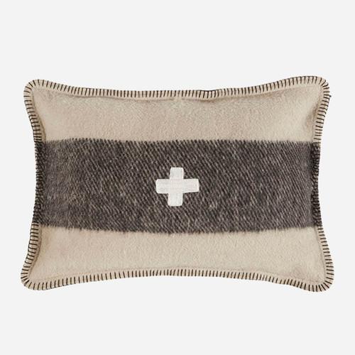 Swiss Army Pillow Cover 14x20 Cream/Black
