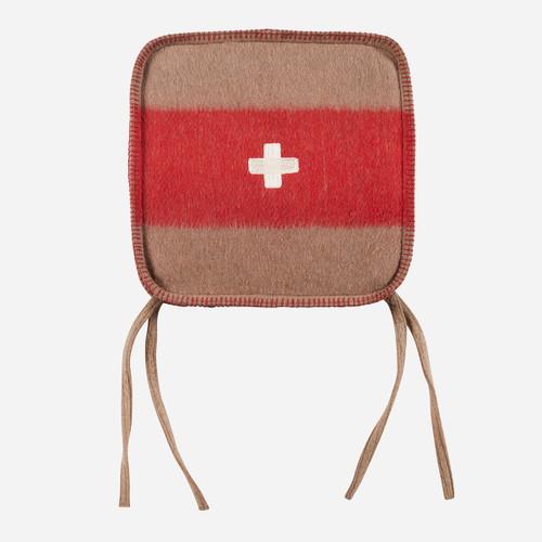 Swiss Army Chair Cushion 15x15 Brown/Red