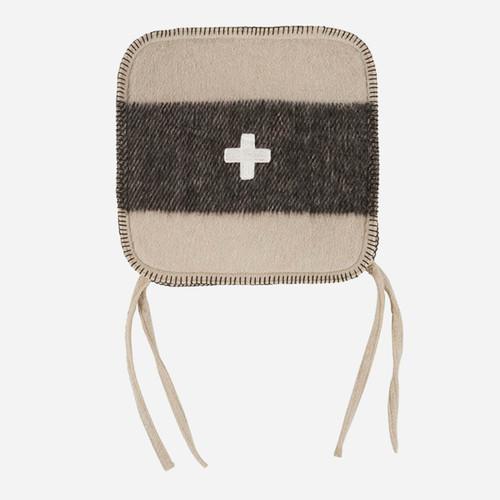 Swiss Army Chair Cushion 15x15 Cream/Black