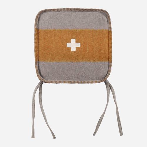 Swiss Army Chair Cushion 15x15 Grey/Orange