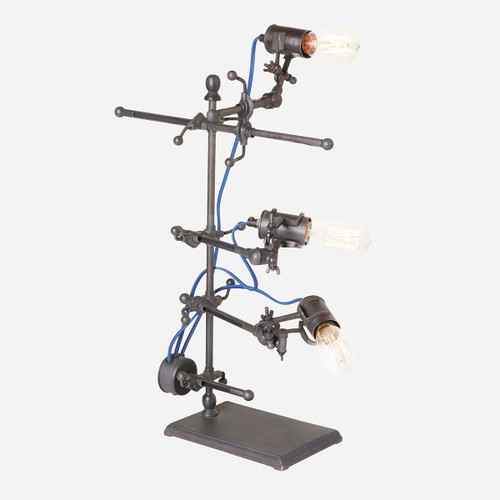 Emmett Adjustable Clip Lamp Electric Blue