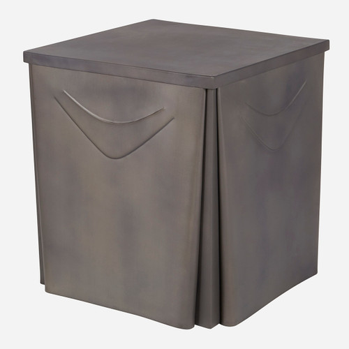 Metal Skirted Side Table