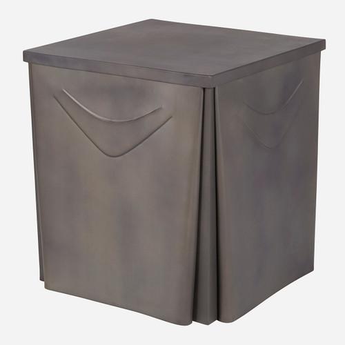 Metal Skirted Side Table