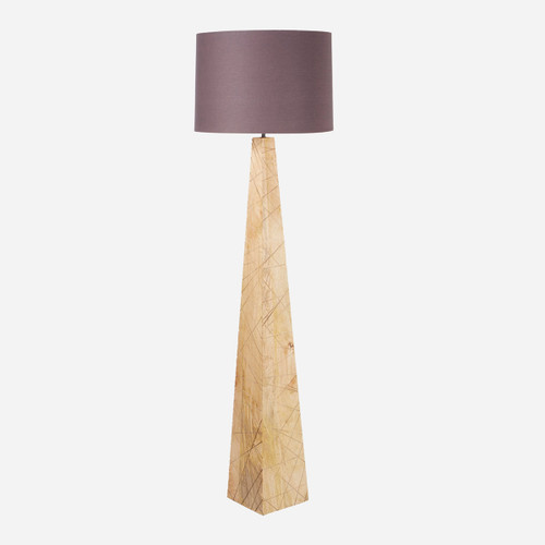 Tapered Wood Floor Lamp
