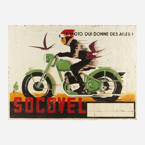 Art on Reclaimed Metal, Socovel Motorbike