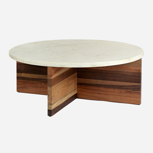 Wood & Marble Coffee Table