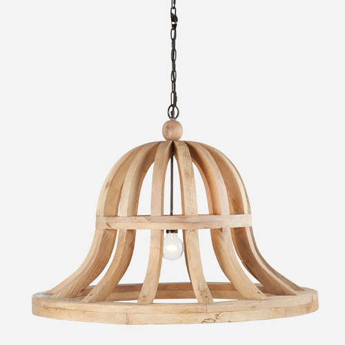 Wooden Bell Chandelier, 36in