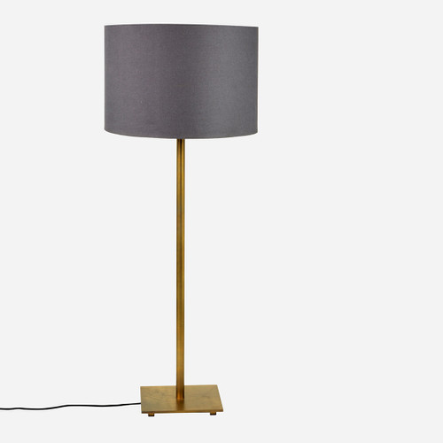 Adjustable Floor Lamp, Antique Brass