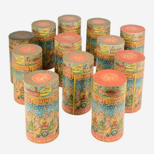 Paper-Mache Sparkler Box, Large