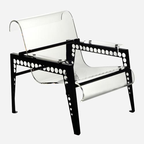 Mr. Bubbles Armchair, Clear Acrylic