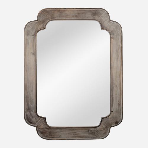 Scalloped Corner Mirror