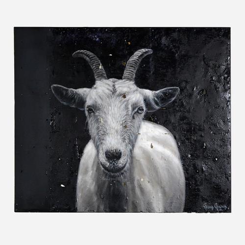 Art on Reclaimed Metal, Goat