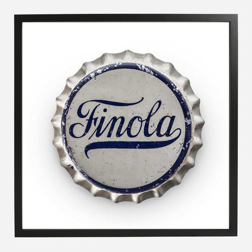 Framed Bottle Cap Print, Finola 20x20