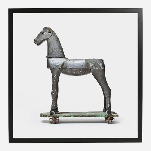 Framed Print, Toy Horse 32x32