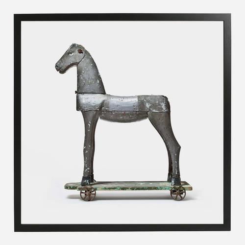 Framed Print, Toy Horse 32x32