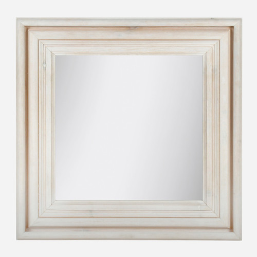 Pine Mirror Square, White Wash