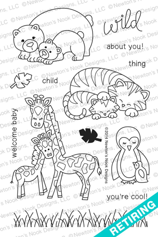 Wild Child  Stamp Set ©2014 Newton's Nook Designs.