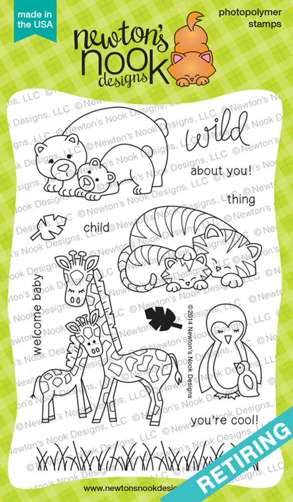 Wild Child  Stamp Set ©2014 Newton's Nook Designs.