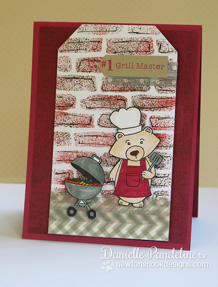 Father's Day Grilling Bear Card | Winston's BBQ stamp set ©2014 Newton's Nook Designs