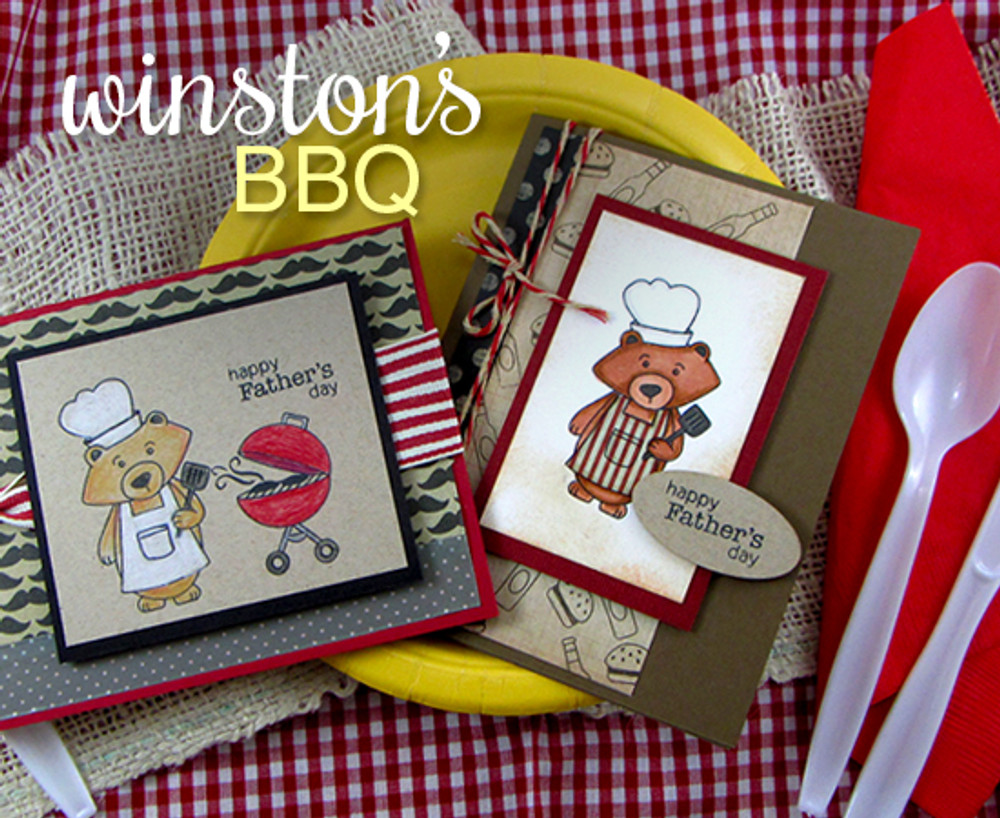 Winston's BBQ | Father's Day Cards | ©2014 Newton's Nook Designs