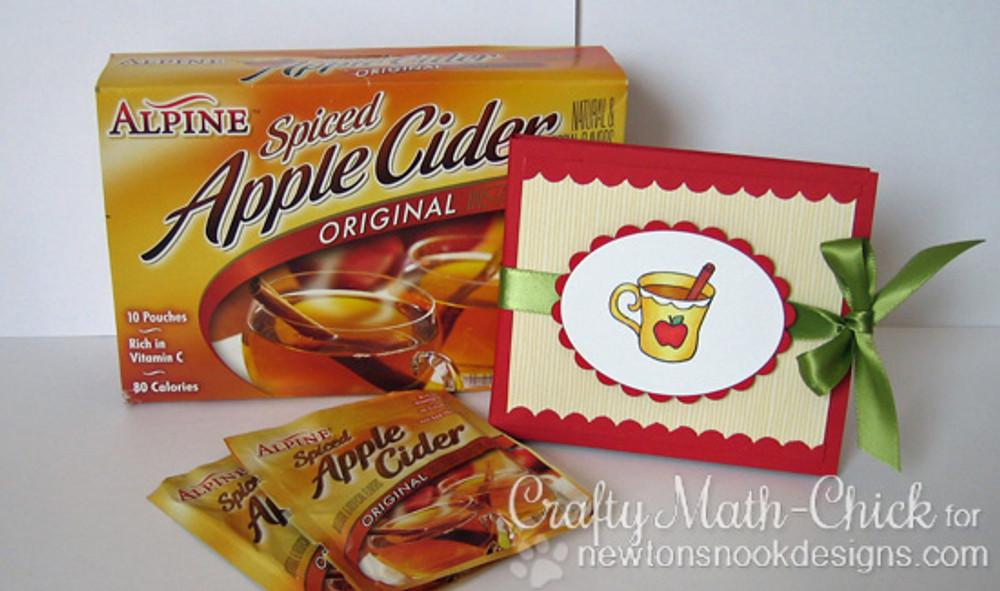 Apple Cider Holder | Apple Delights | 3x4 photopolymer Stamp Set | ©2014 Newton's Nook Designs
