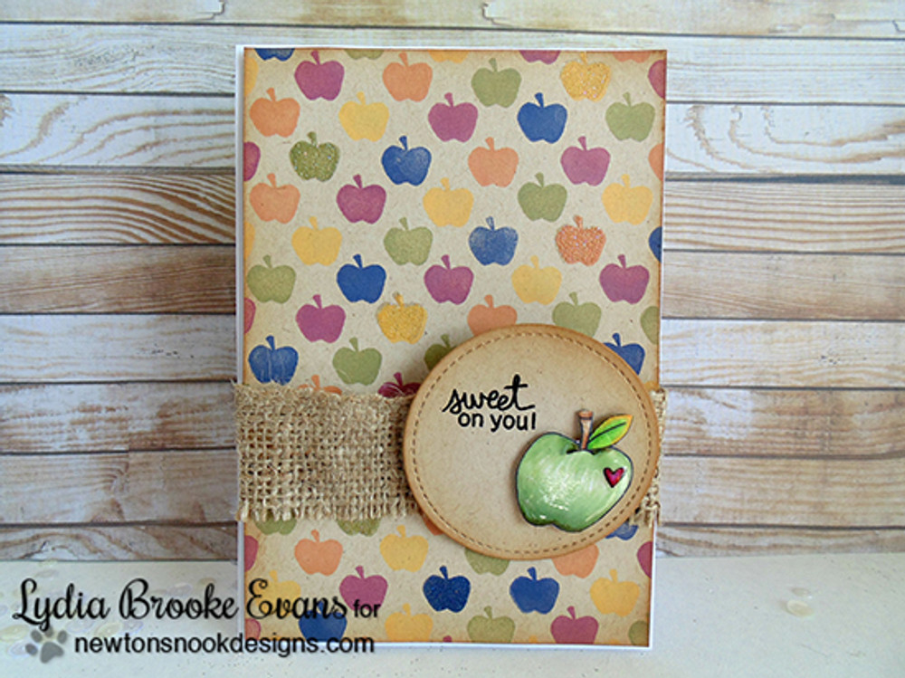 Apple Card | Apple Delights | 3x4 photopolymer Stamp Set | ©2014 Newton's Nook Designs