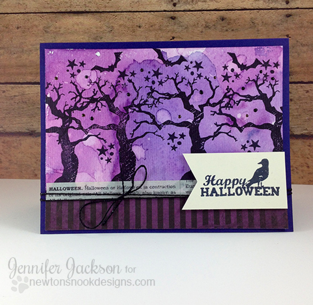 Spooky Tree Card | Spooky Street Stamp Set ©2014 Newton's Nook Designs