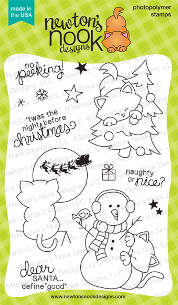 Newton's Curious Christmas | 4x6 photopolymer Stamp Set | ©2014 Newton's Nook Designs