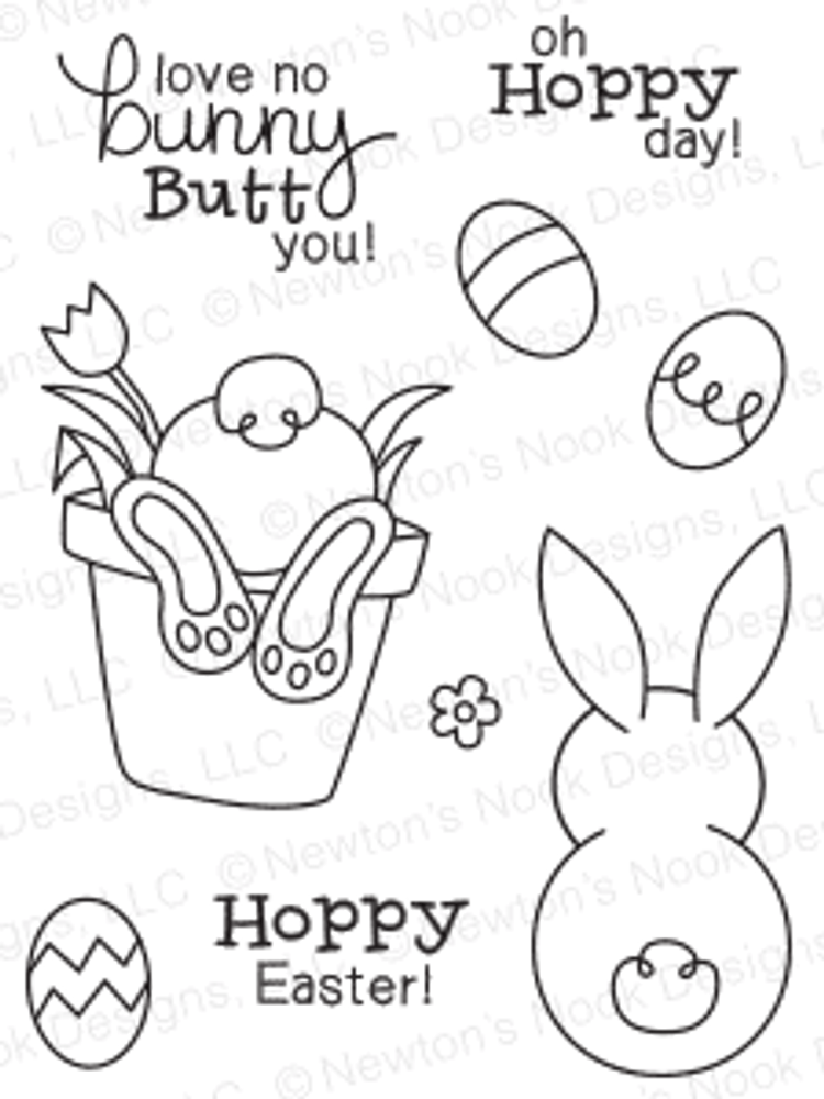 Bunny Hop | 3x4 Photopolymer Stamp Set | ©2015 Newton's Nook Designs