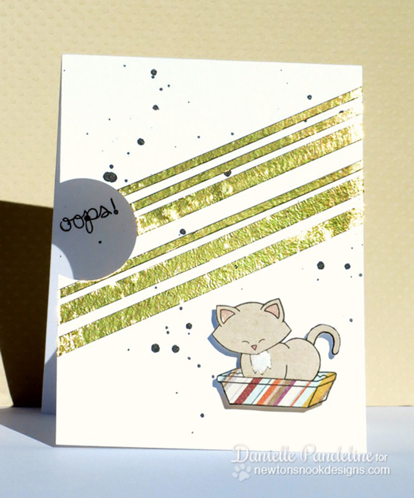 Apology Cat Card | Naughty Newton | 4x6 photopolymer Stamp Set | ©2015 Newton's Nook Designs