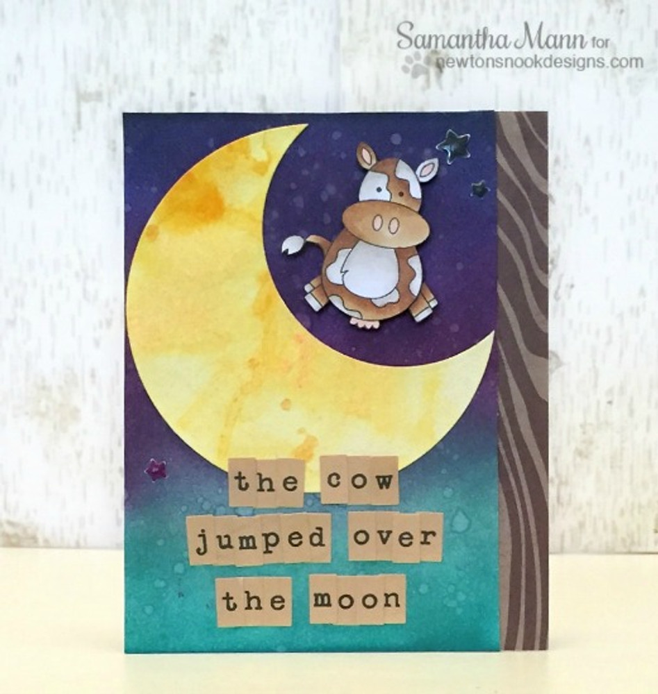 Cow Jumped over the Moon | Farmyard Friends | 4x6 photopolymer Stamp Set | ©2015 Newton's Nook Designs