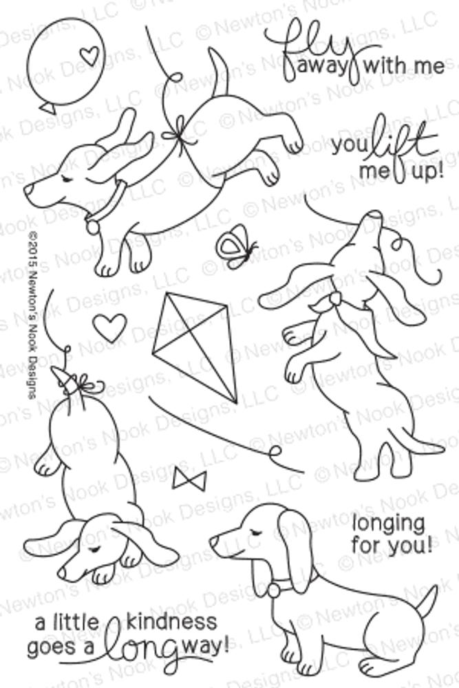 Delightful Doxies | 4x6 Photopolymer Stamp Set | © 2015 Newton's Nook Designs
