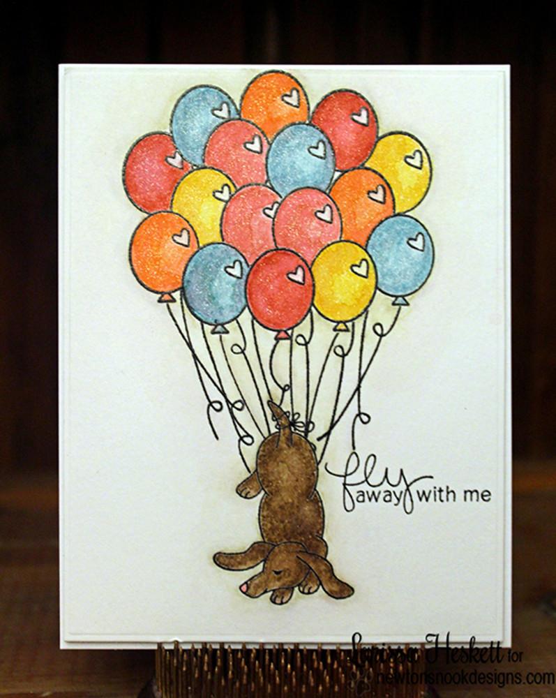 Dachshund Friendship Card | Delightful Doxies | 4x6 photopolymer Stamp Set | © 2015 Newton's Nook Designs
