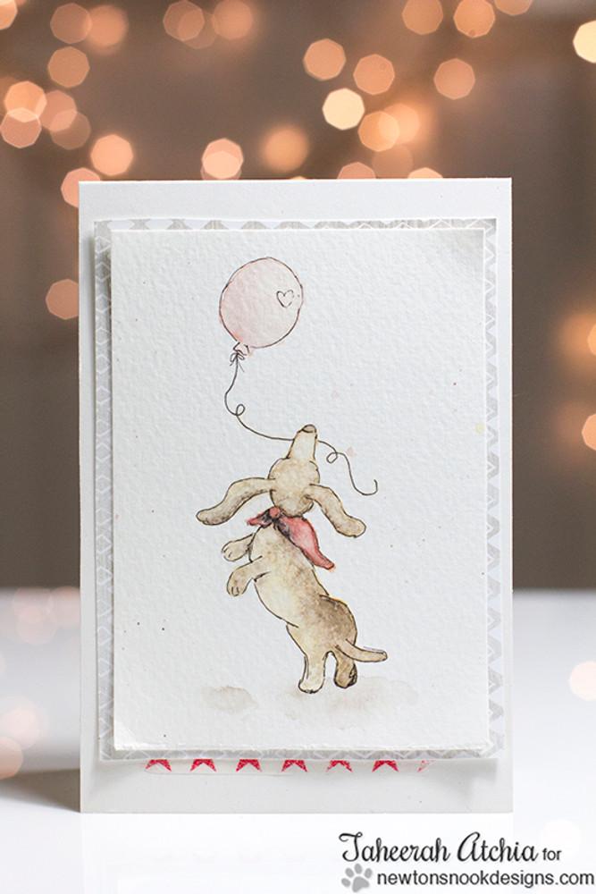Dachshund Card | Delightful Doxies | 4x6 photopolymer Stamp Set | © 2015 Newton's Nook Designs