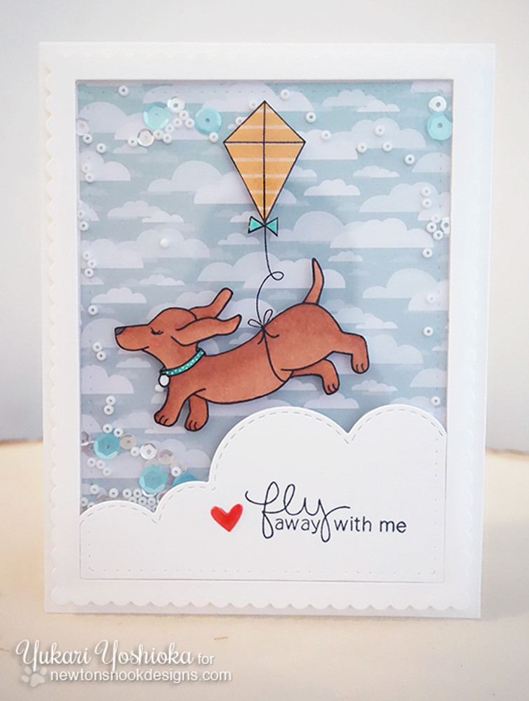 Dachshund Friendship Card | Delightful Doxies | 4x6 photopolymer Stamp Set | © 2015 Newton's Nook Designs