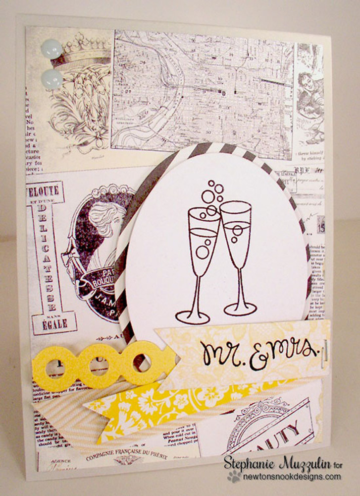 Anniversary Card | Years of Cheers | 3x4 photopolymer Stamp Set | © 2015 Newton's Nook Designs