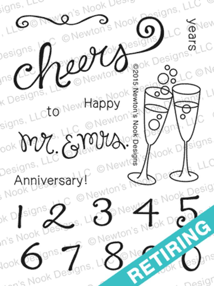 Years of Cheers | 3x4 Photopolymer Stamp Set | © 2015 Newton's Nook Designs