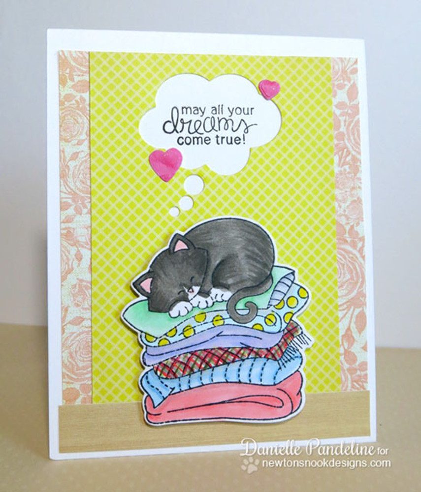Cat Friendship Card | Newton's Naptime Stamp Set ©2015 Newton's Nook Designs