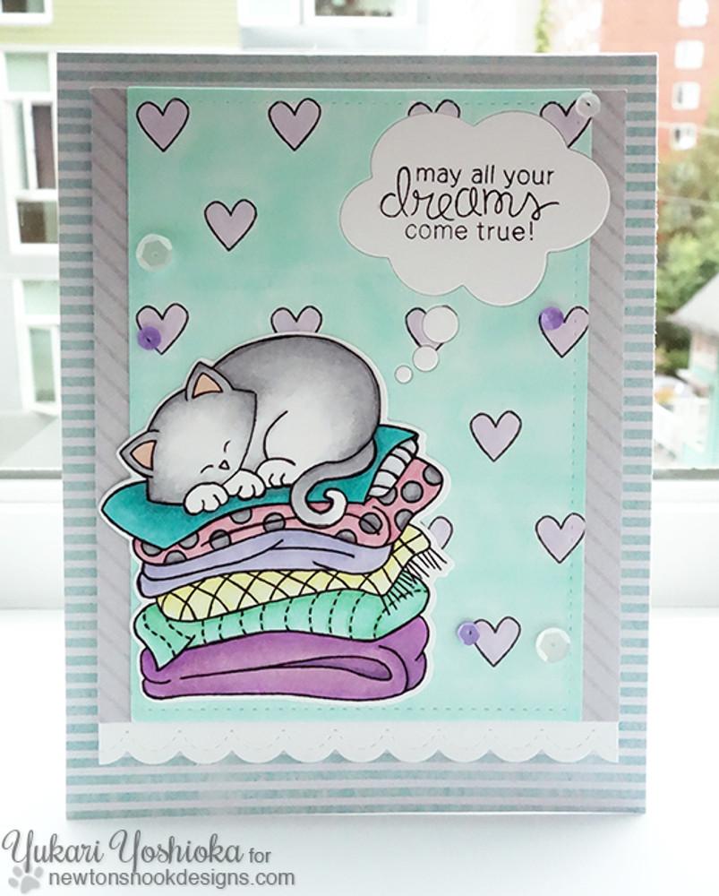 Cat Friendship Card | Newton's Naptime Stamp Set ©2015 Newton's Nook Designs