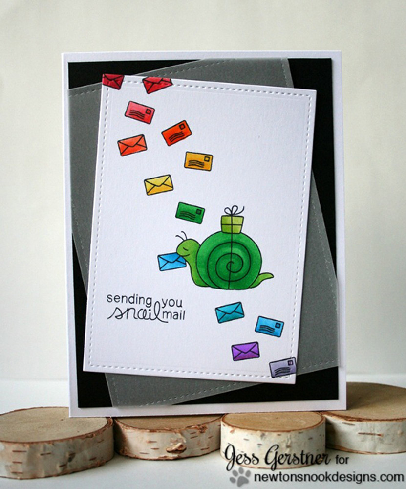 Snail Friendship Card | In Slow Motion | 4x6 Photopolymer Stamp Set | Newton's Nook Designs