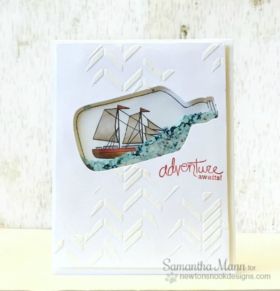Nautical Friendship Card | Message In A Bottle Stamp Set ©2015 Newton's Nook Designs