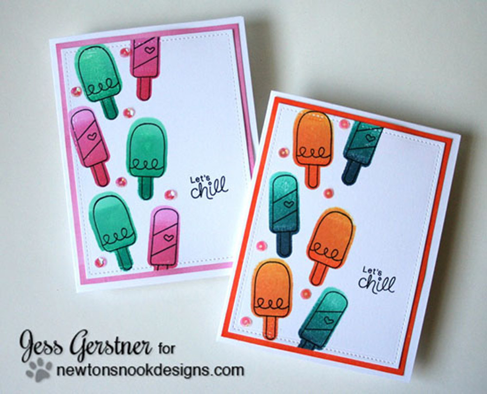 Ice Cream Friendship Cards | Summer Scoops Stamp Set ©2015 Newton's Nook Designs