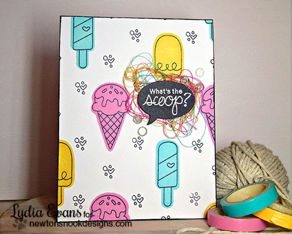 Ice Cream Friendship Card | Summer Scoops Stamp Set ©2015 Newton's Nook Designs