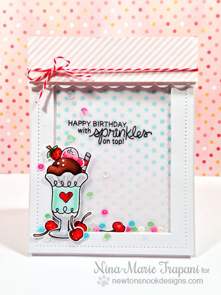 Ice Cream Birthday Card | Summer Scoops Stamp Set ©2015 Newton's Nook Designs