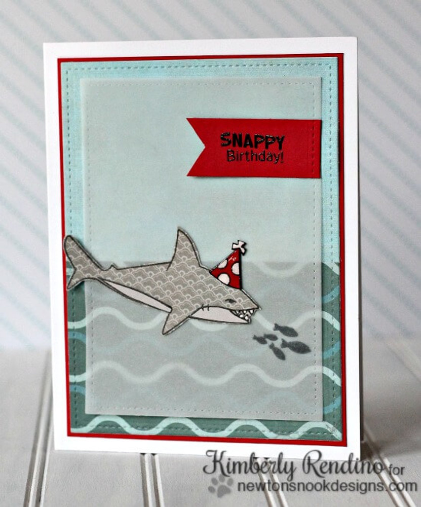 Shark Bites Stamp Set  ©2015 Newton's Nook Designs