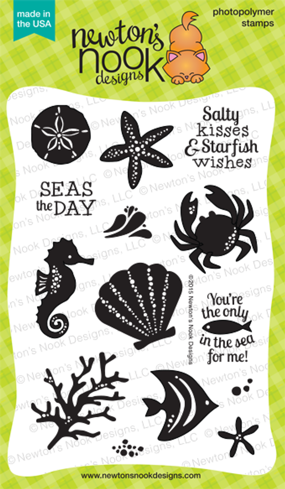 Tranquil Tides | 4x6 Photopolymer Stamp Set | ©2015 Newton's Nook Designs