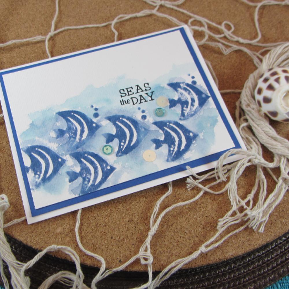 Tranquil Tides   4x6 Photopolymer Stamp Set   ©2015 Newton's Nook Designs