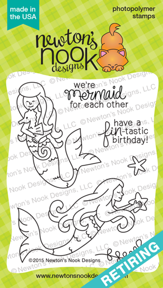 Mermaid Crossing | 3x4 Photopolymer Stamp Set | ©2015 Newton's Nook Designs