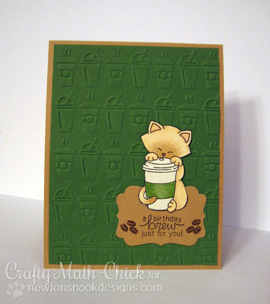 Newton Loves Coffee | 4x6 Photopolymer Stamp Set | ©2015 Newton's Nook Designs