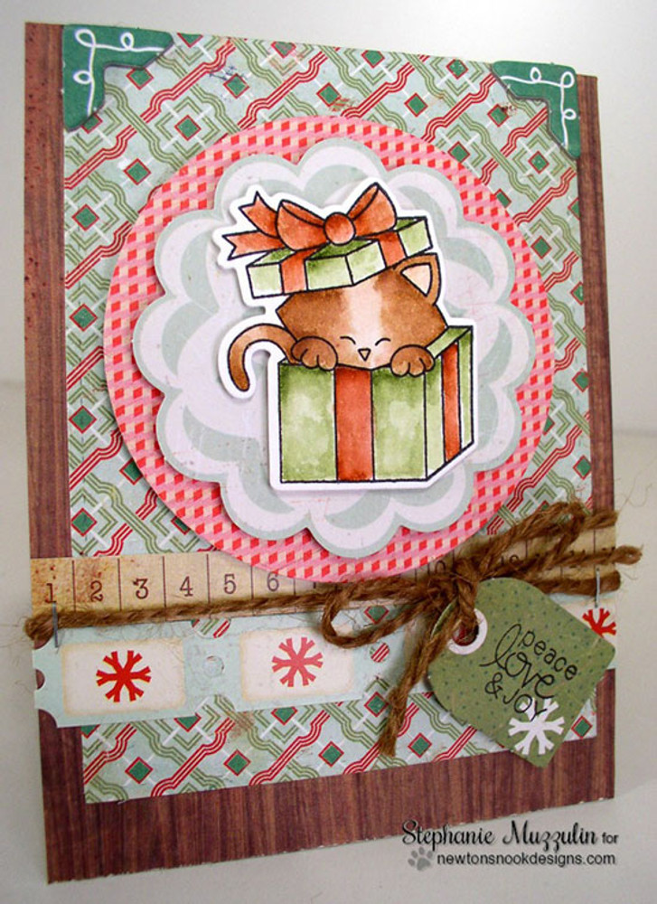 Newton's Christmas Cuddles | 4x6 Photopolymer Stamp Set | ©2015 Newton's Nook Designs
